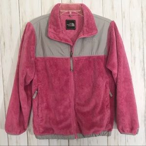 The North Face Pink/Gray Fleece Jacket